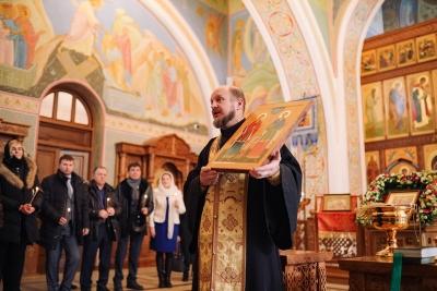 В храме Иоанна Предтечи теперь есть икона покровителей нотариата